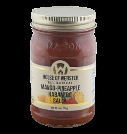 House of Webster Mango-Pineapple Habanero Salsa, 14 oz.