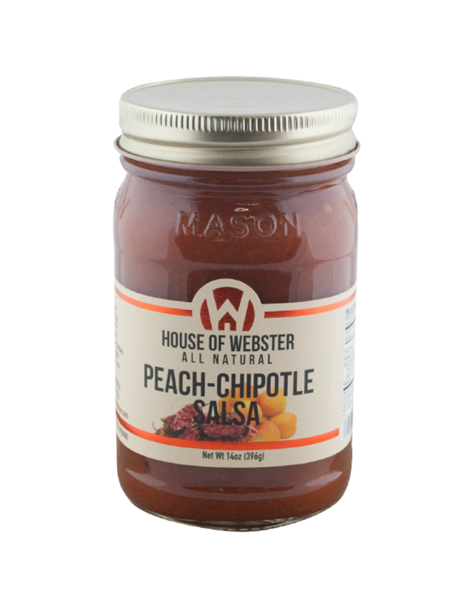 House of Webster Peach-Chipotle Salsa, 14 oz.