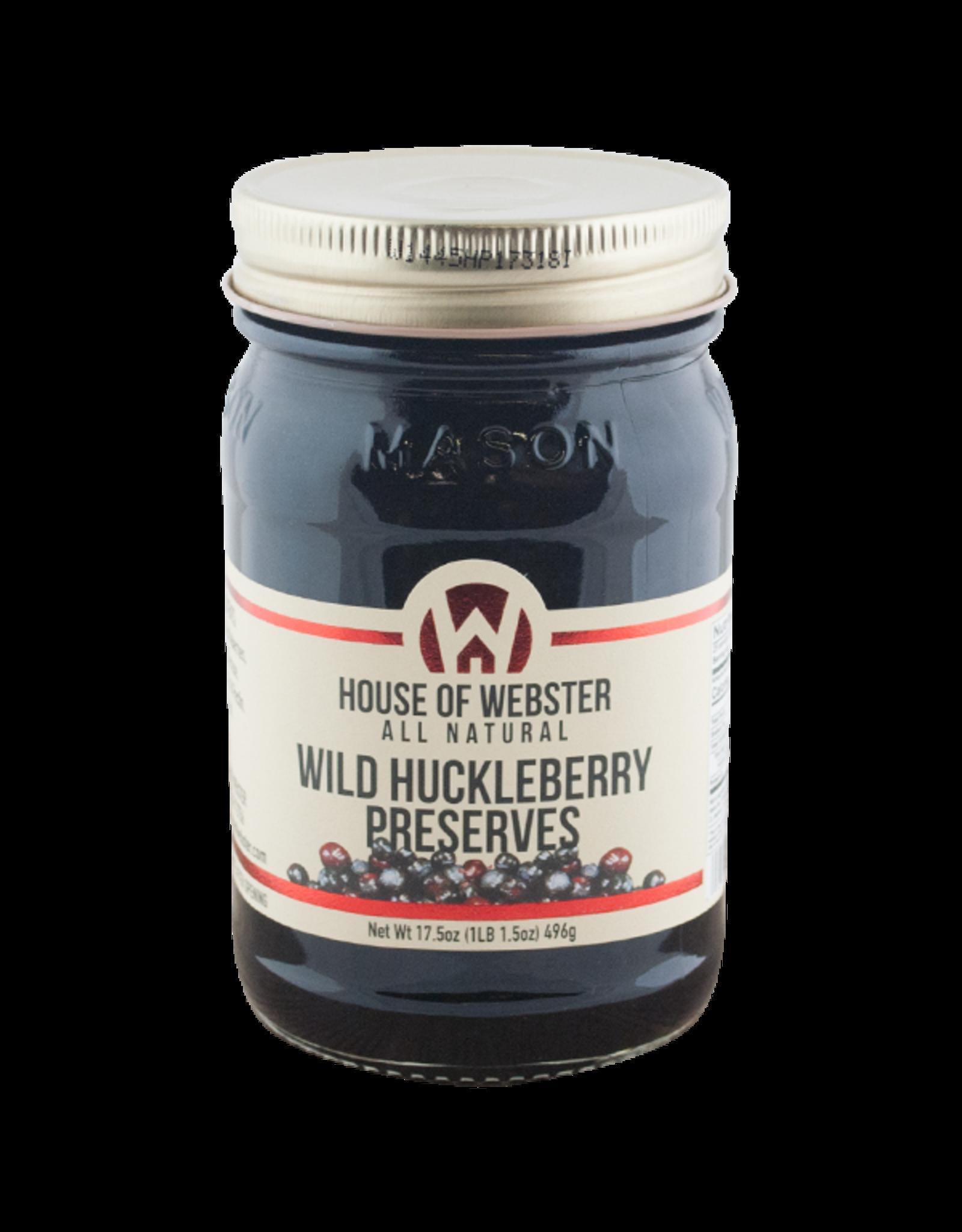House of Webster Wild Huckleberry Preserves, 17.5 oz.