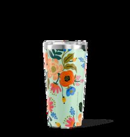 Corkcicle Tumbler, Lively Floral Mint, 16 oz.