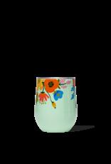 Corkcicle Stemless Tumbler, Lively Floral Mint, 12 oz.