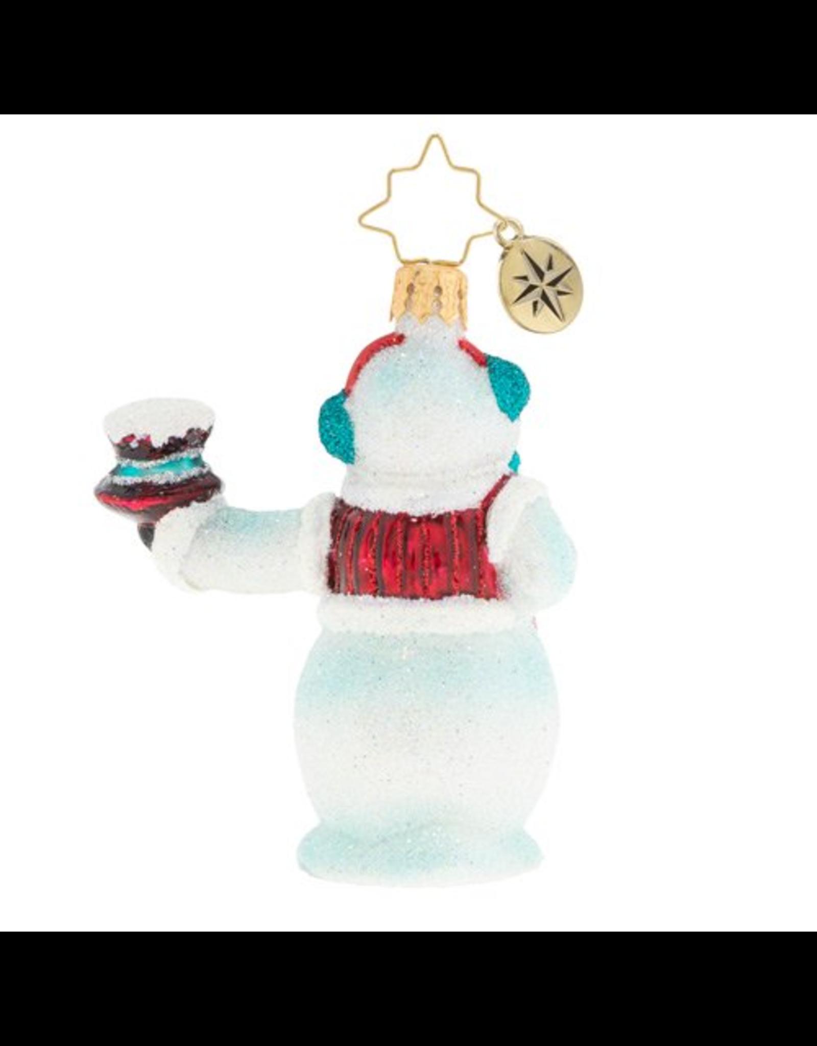 Radko Hats Off Snowman Gem