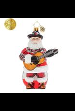 Radko Boot Scootin' Santa