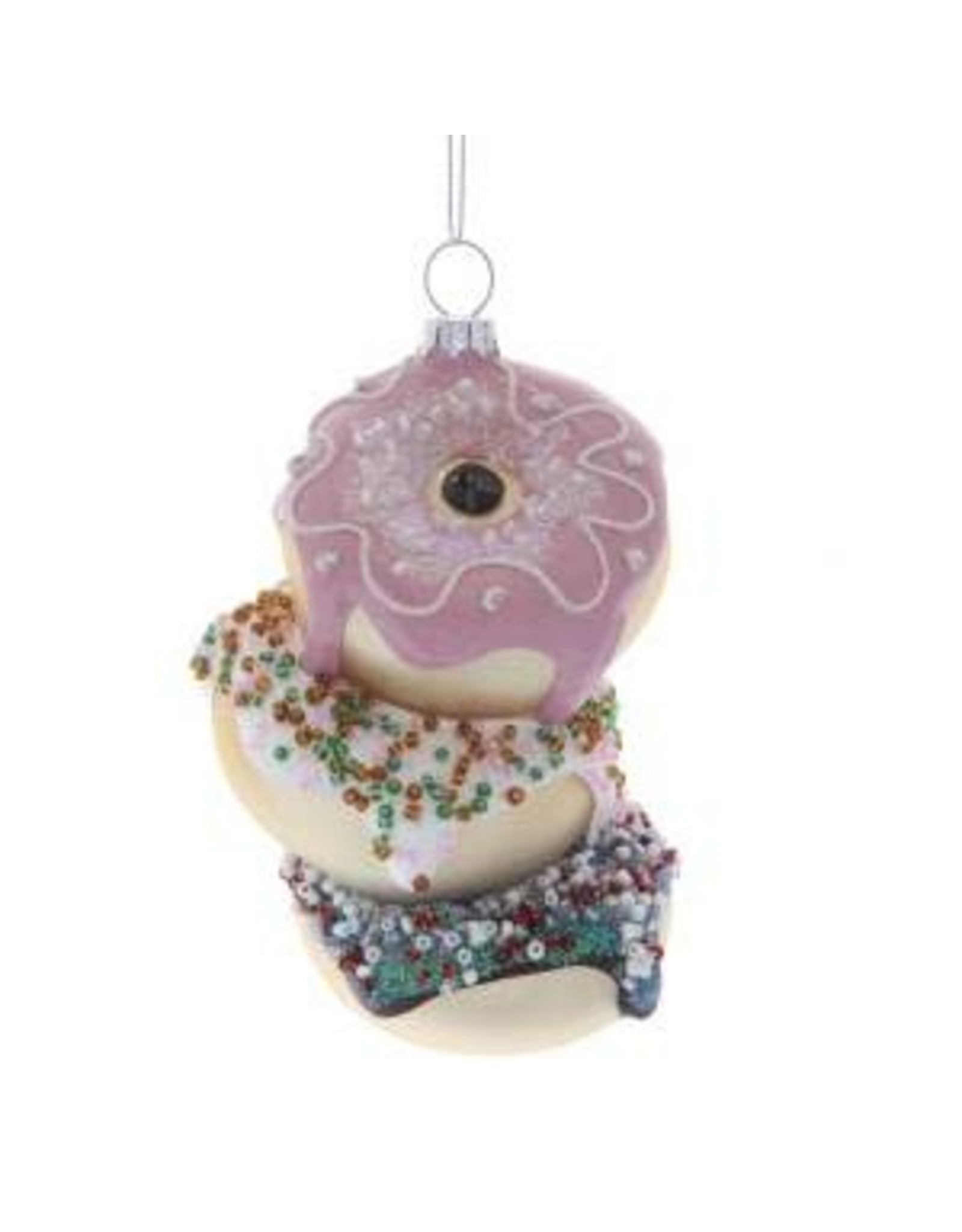 Kurt S. Adler Glass Stacked Donuts Orn