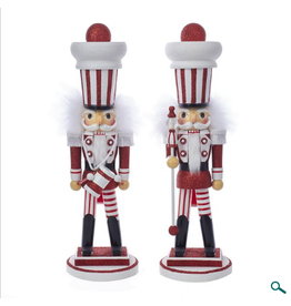 Kurt S. Adler Candy Stripe Soldier Nutcracker