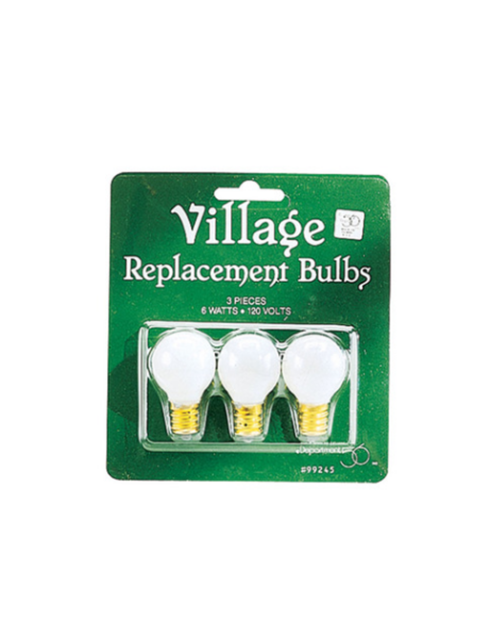 Department 56 Replacement Round Light Bulb