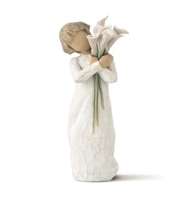 Willow Tree Beautiful Wishes Child with White Calla Lilies