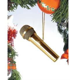 Broadway Gift Co Gold Brass Microphone