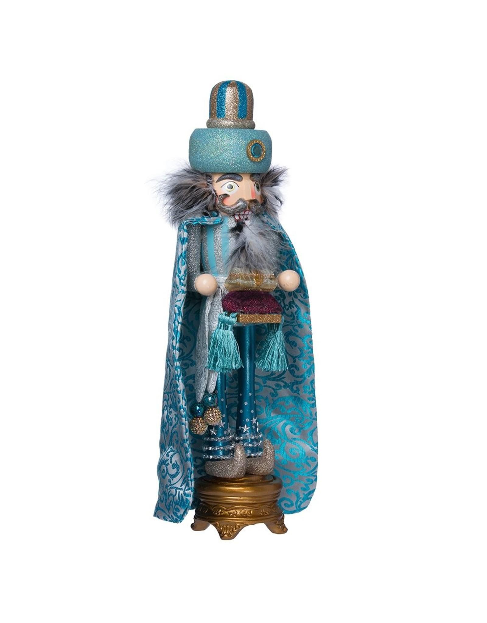 Kurt S. Adler Turquoise Wiseman Nutcracker