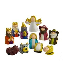 Kurt S. Adler Claydough Nativity