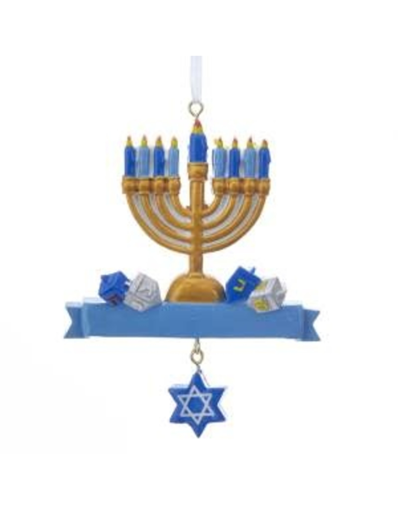 Kurt S. Adler Hanukkah Menorah Ornament