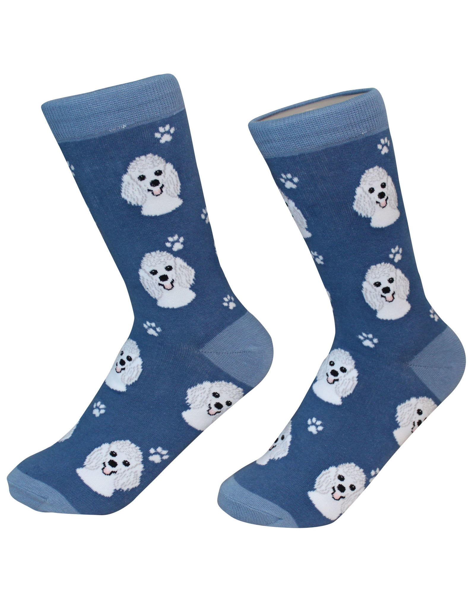 E&S Pets White Poodle Socks