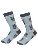 E&S Pets Silver Tabby Cat Socks