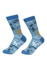 E&S Pets I Love My Cat Socks