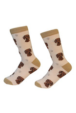 E&S Pets Red Dachshund Socks