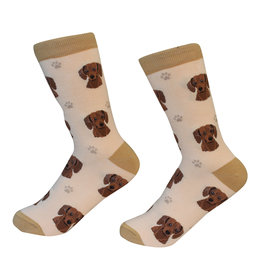 E&S Pets Red Dachshund Socks
