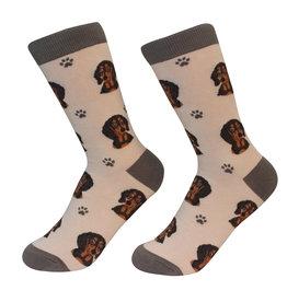 E&S Pets Black Dachshund Socks