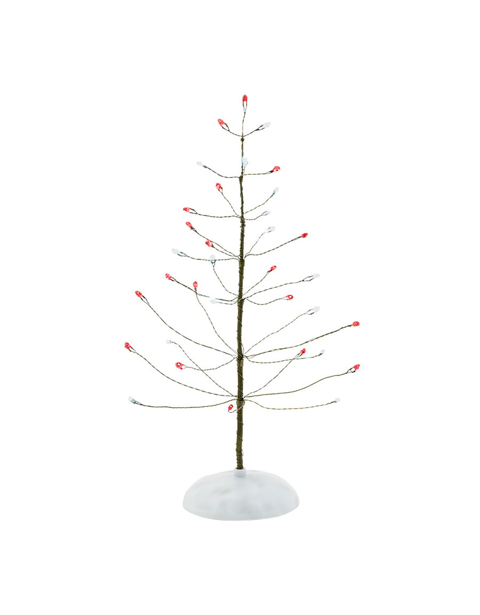 Department 56 Red & White Twinkle Brite Tree