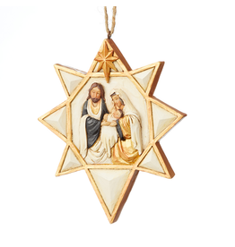 Jim Shore Black & Gold Nativity Star