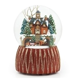 Roman Musical Train Snow Globe