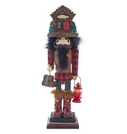 Kurt S. Adler Lodge Nutcracker w/ Cabin Hat