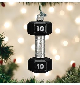 Old World Christmas Dumbbell Ornament