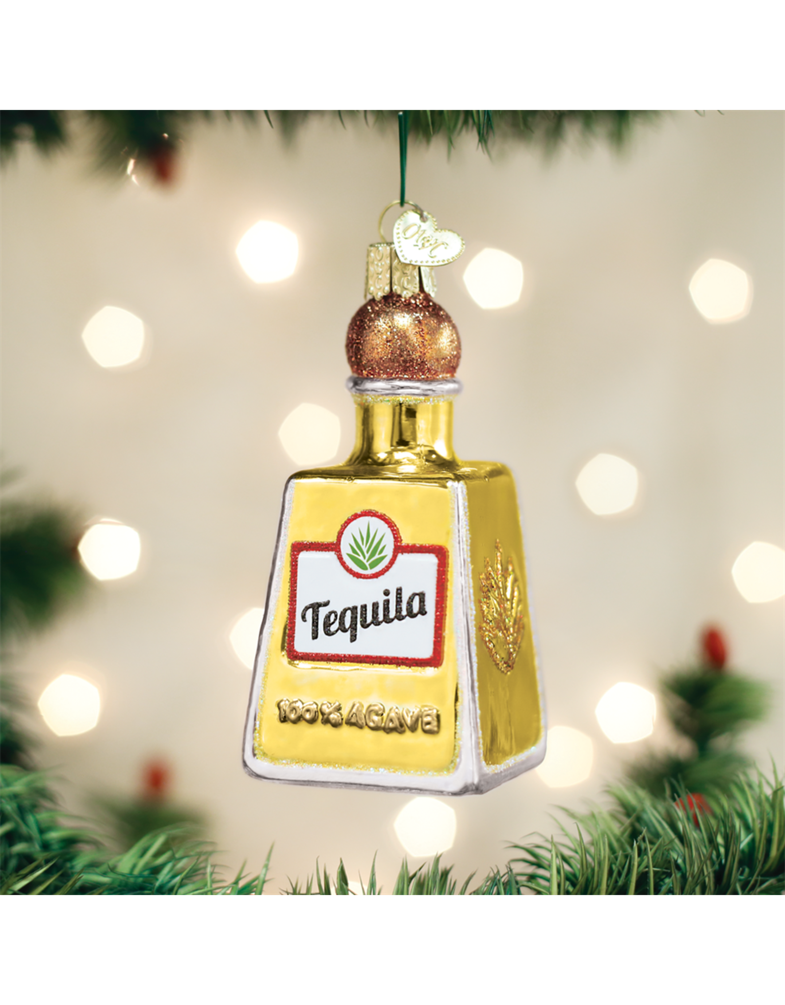 Old World Christmas Tequila Bottle Ornament