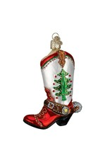 Old World Christmas Christmas Cowboy Boot Ornament