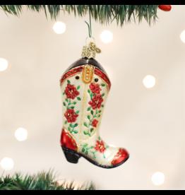 Old World Christmas CHRISTMAS COWGIRL BOOT