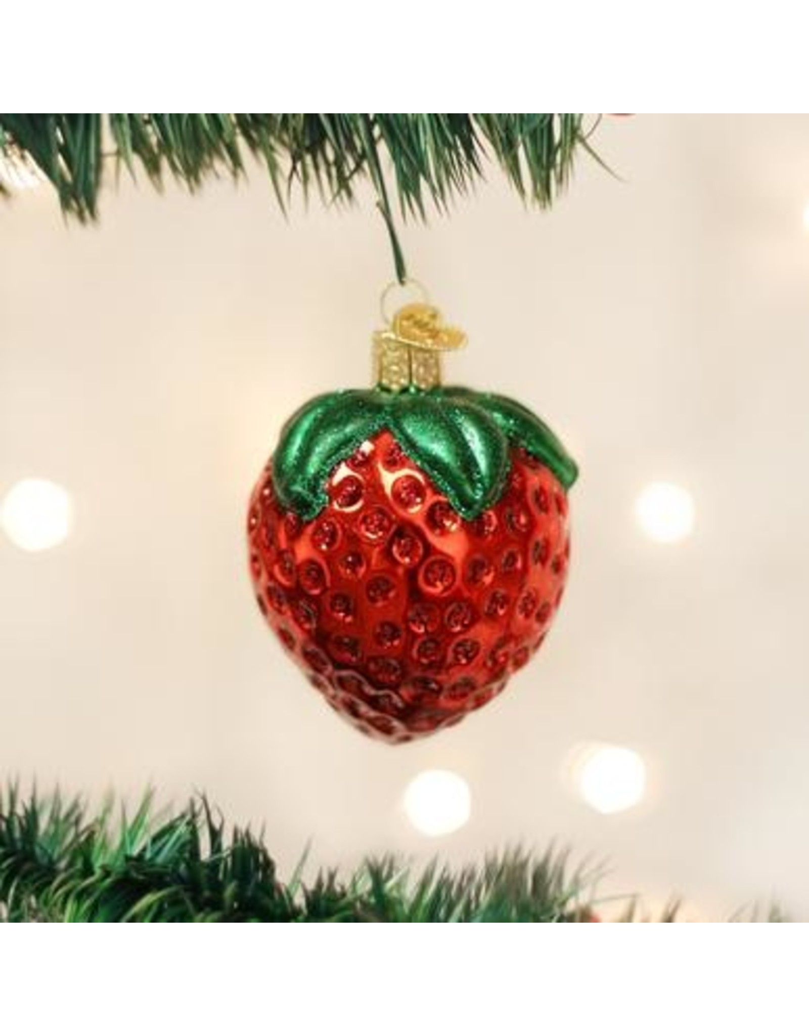 Old World Christmas Summer Strawberry Ornament