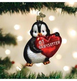 Old World Christmas Best #1 Babysitter Ornament