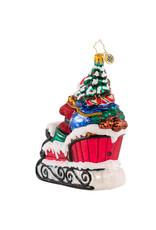 Radko Countryside Sleigh Ride Santa