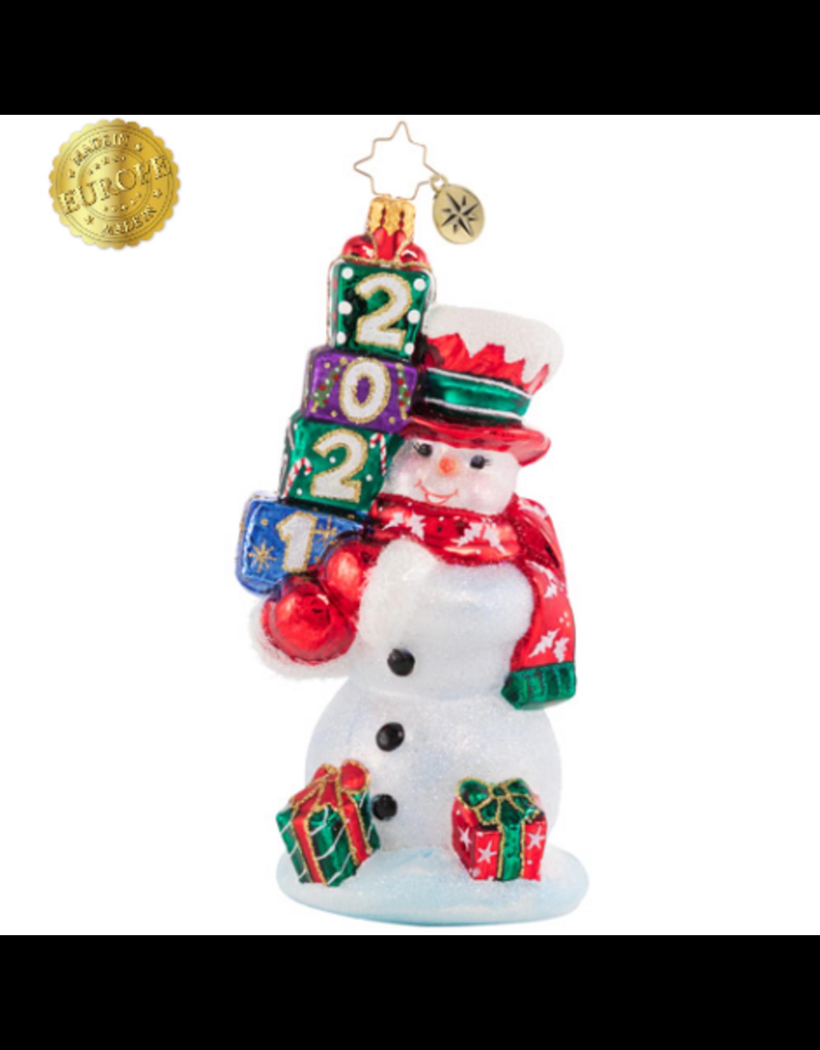 Radko Teetering Tower of Treasures Snowman (2021)