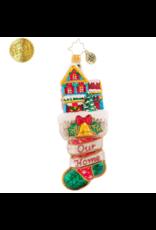 Radko Merry Home Memories Stocking