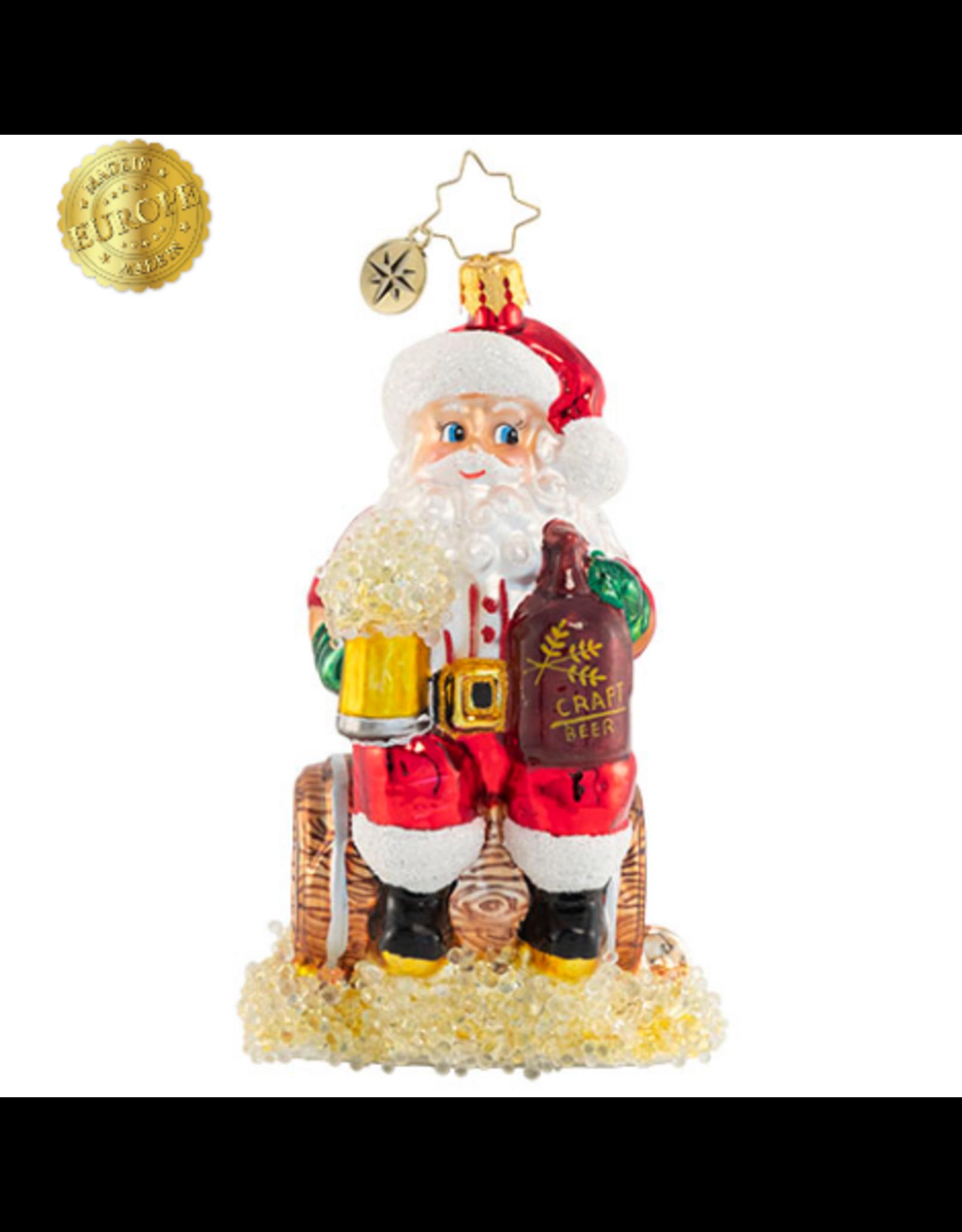 Radko Oktoberfest Cheers! Santa