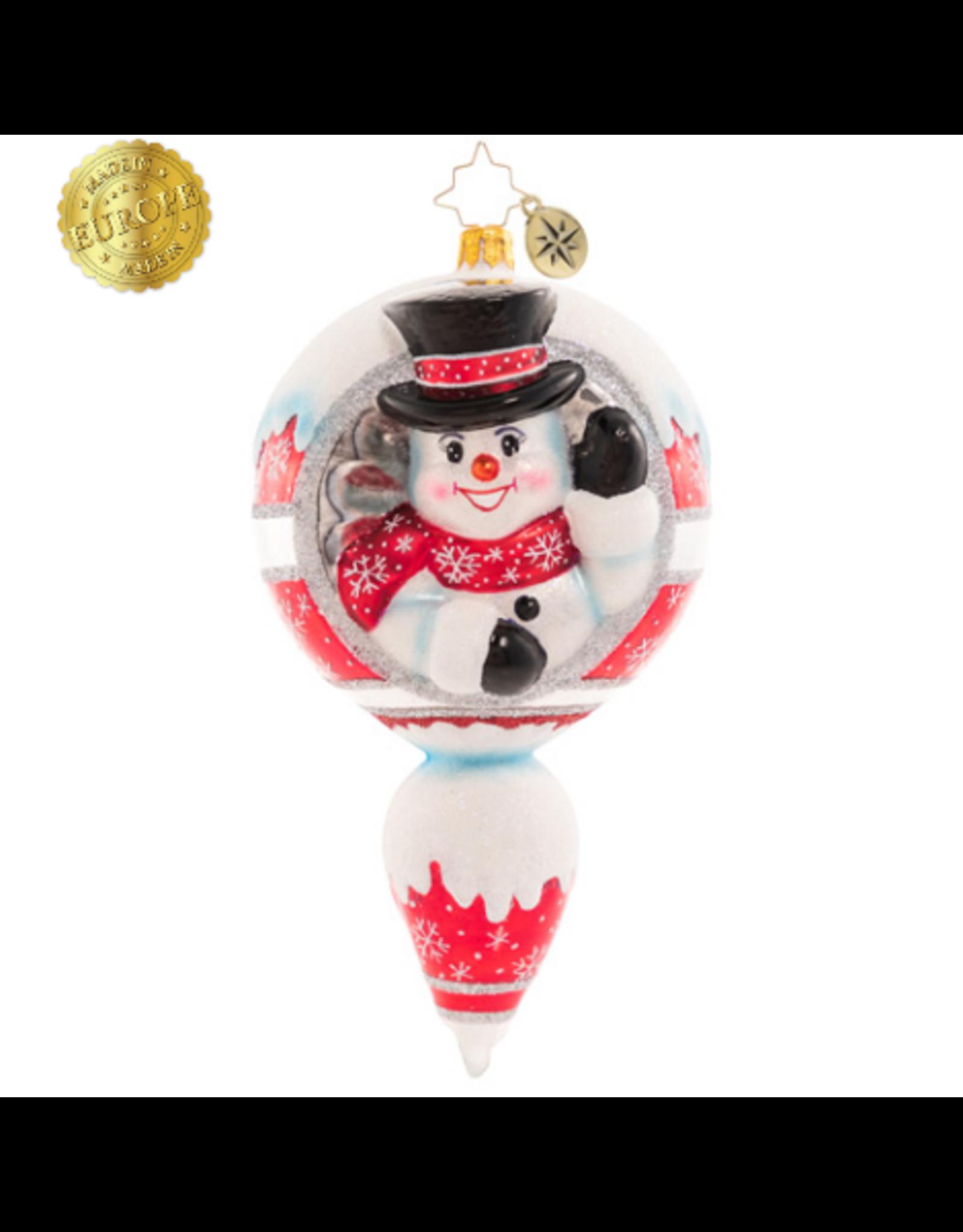 Radko A Frosty Hello Snowman