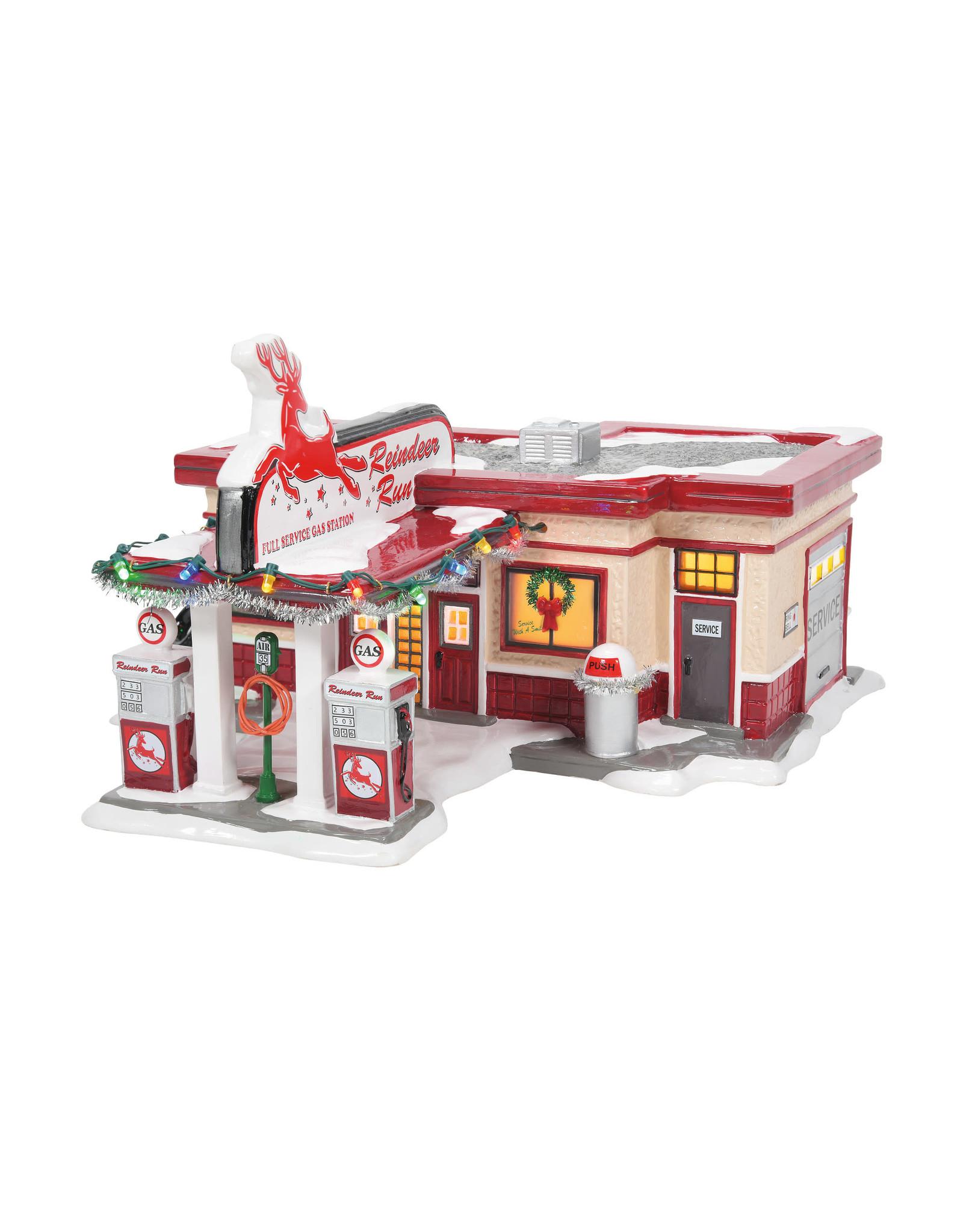 Department 56 Reindeer Gas Station