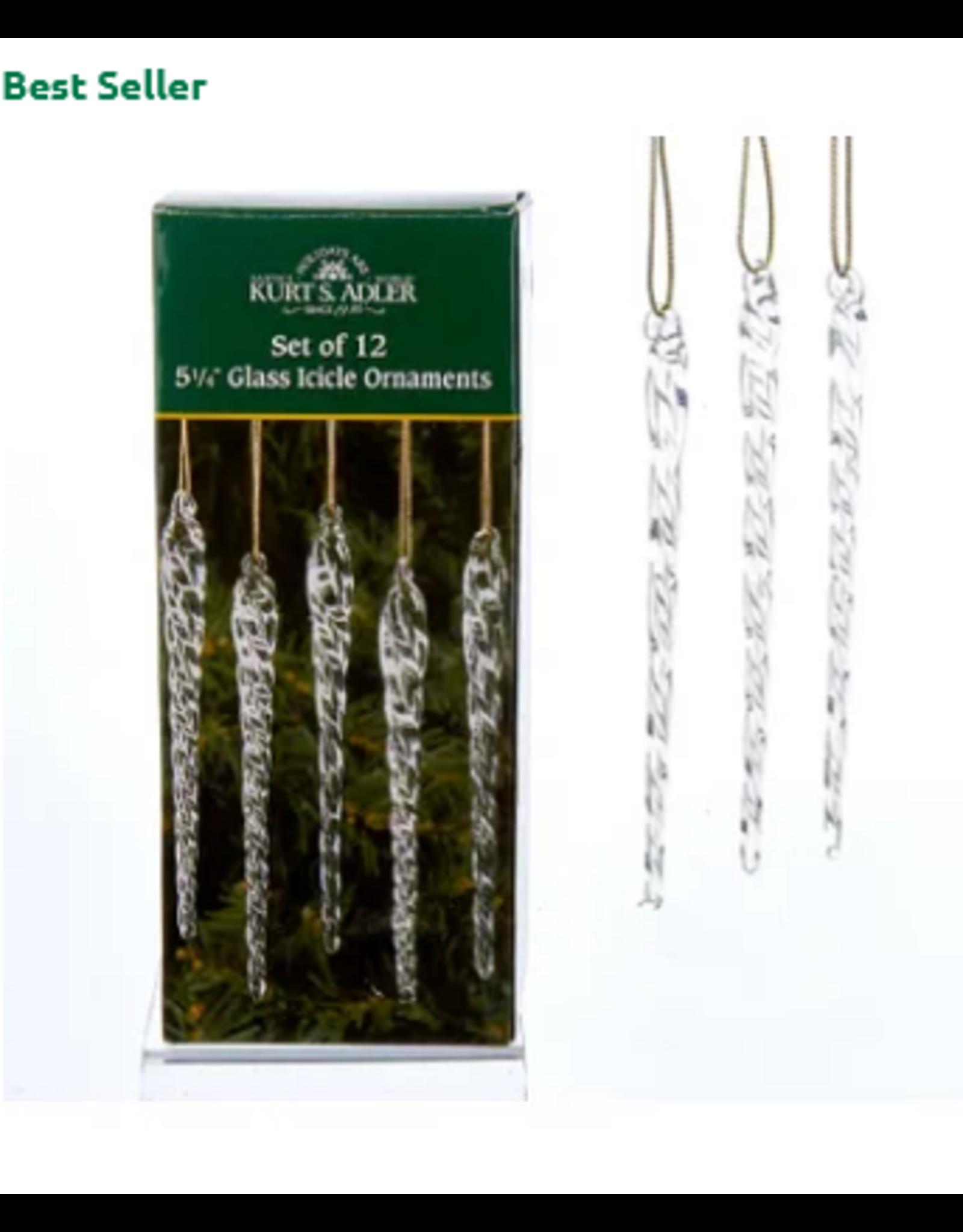 Kurt S. Adler Glass Icicles 12/Box