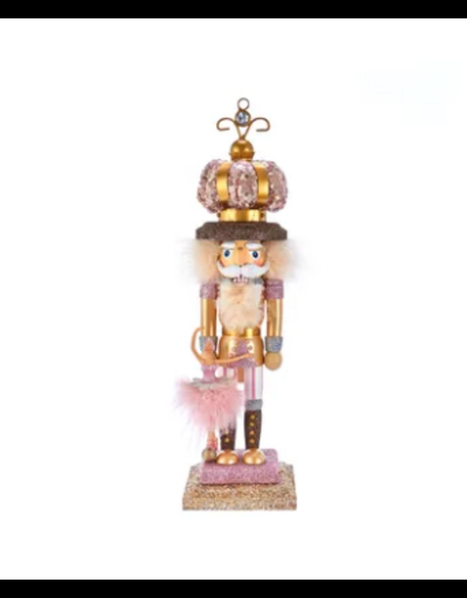 Kurt S. Adler Rose Gold Ballet King Nutcracker