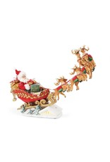Possible Dreams Dash Away Anniversary Santa in Sleigh