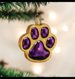 Old World Christmas Paw Print Ornament