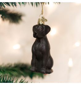Old World Christmas Black Labrador Ornament