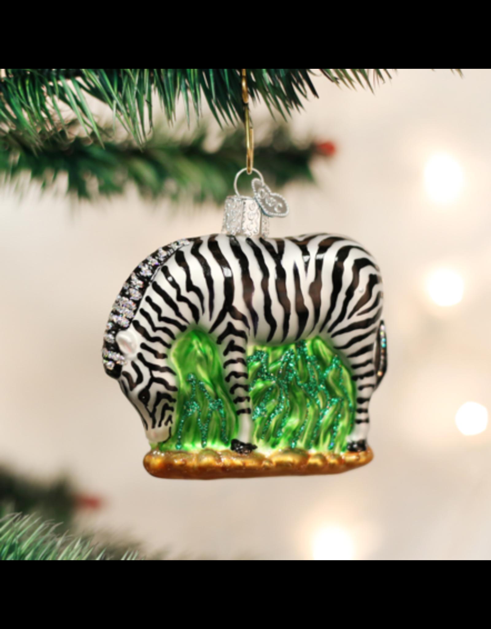 Old World Christmas Zebra Ornament