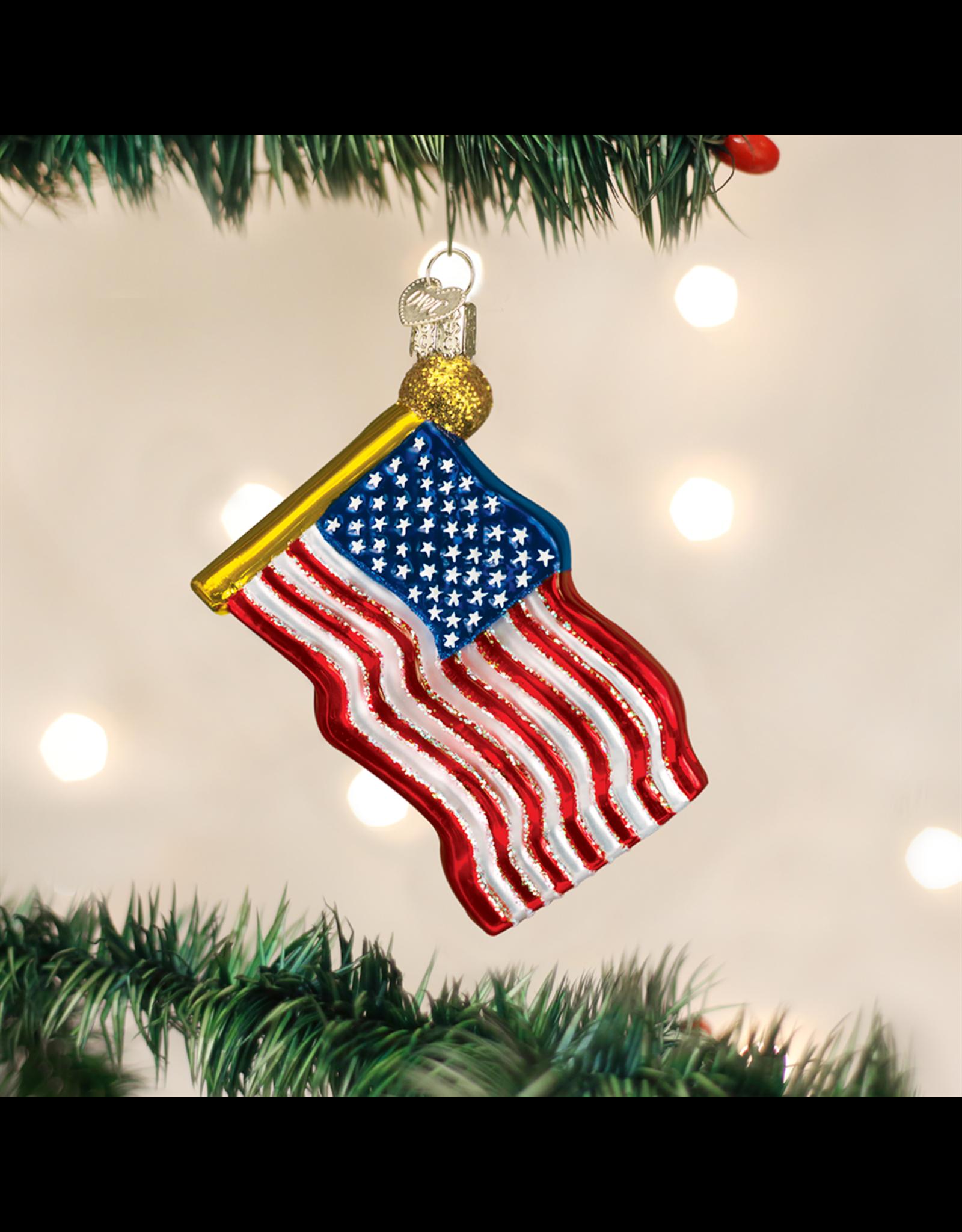 Old World Christmas Star-spangled Banner Ornament