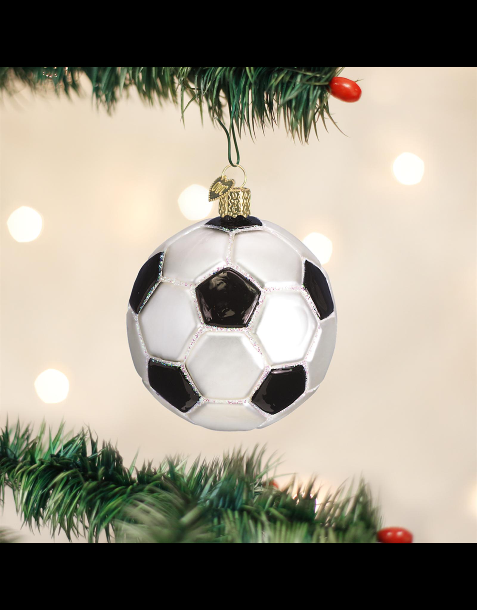 Old World Christmas Soccer Ball Ornament