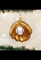Old World Christmas Baseball Mitt Ornament