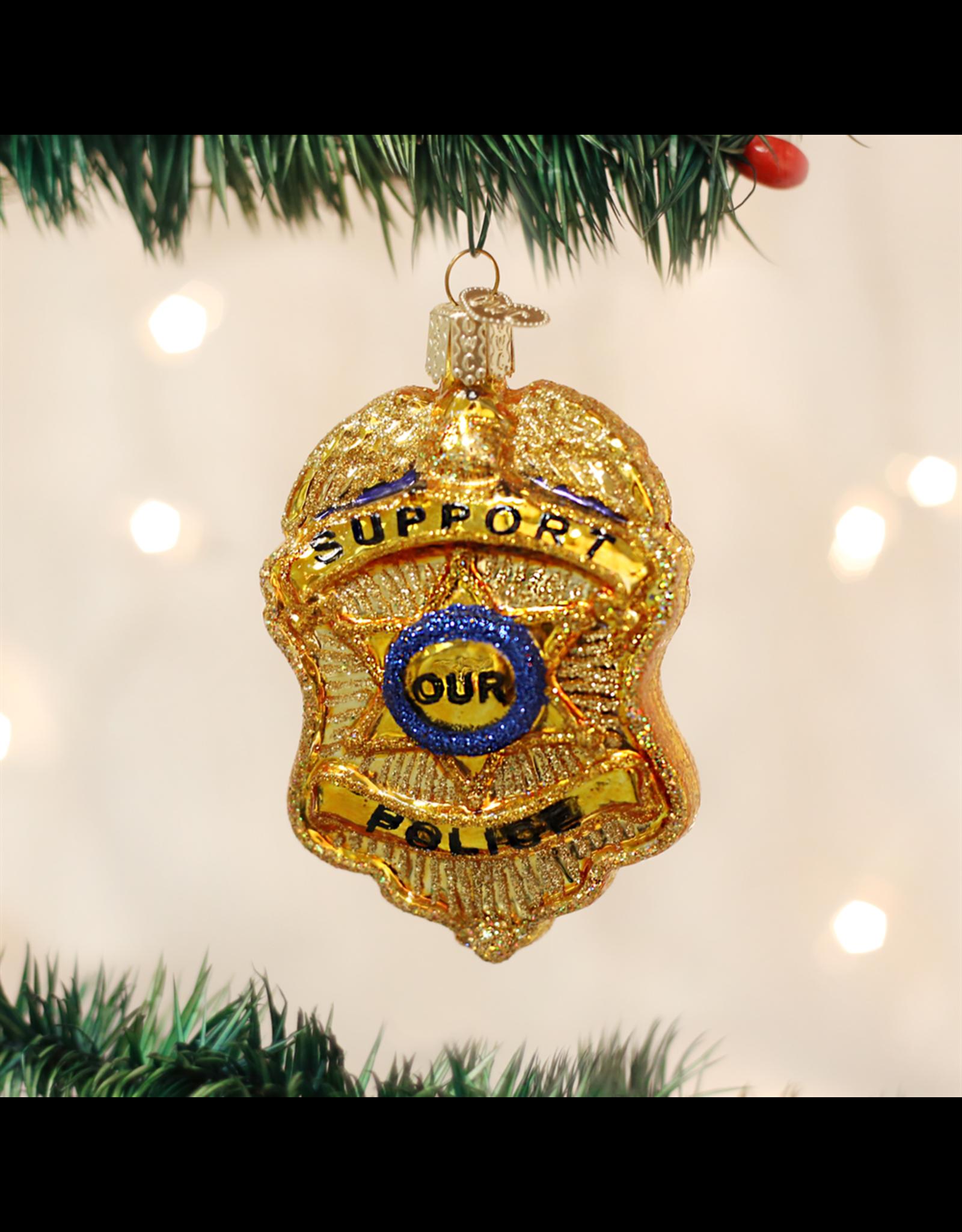 Old World Christmas Police Badge Ornament
