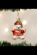 Old World Christmas Baby's 1st Christmas Bear Ornament