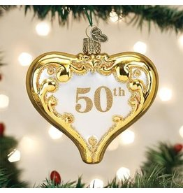 Old World Christmas 50th Anniversary Heart Ornament