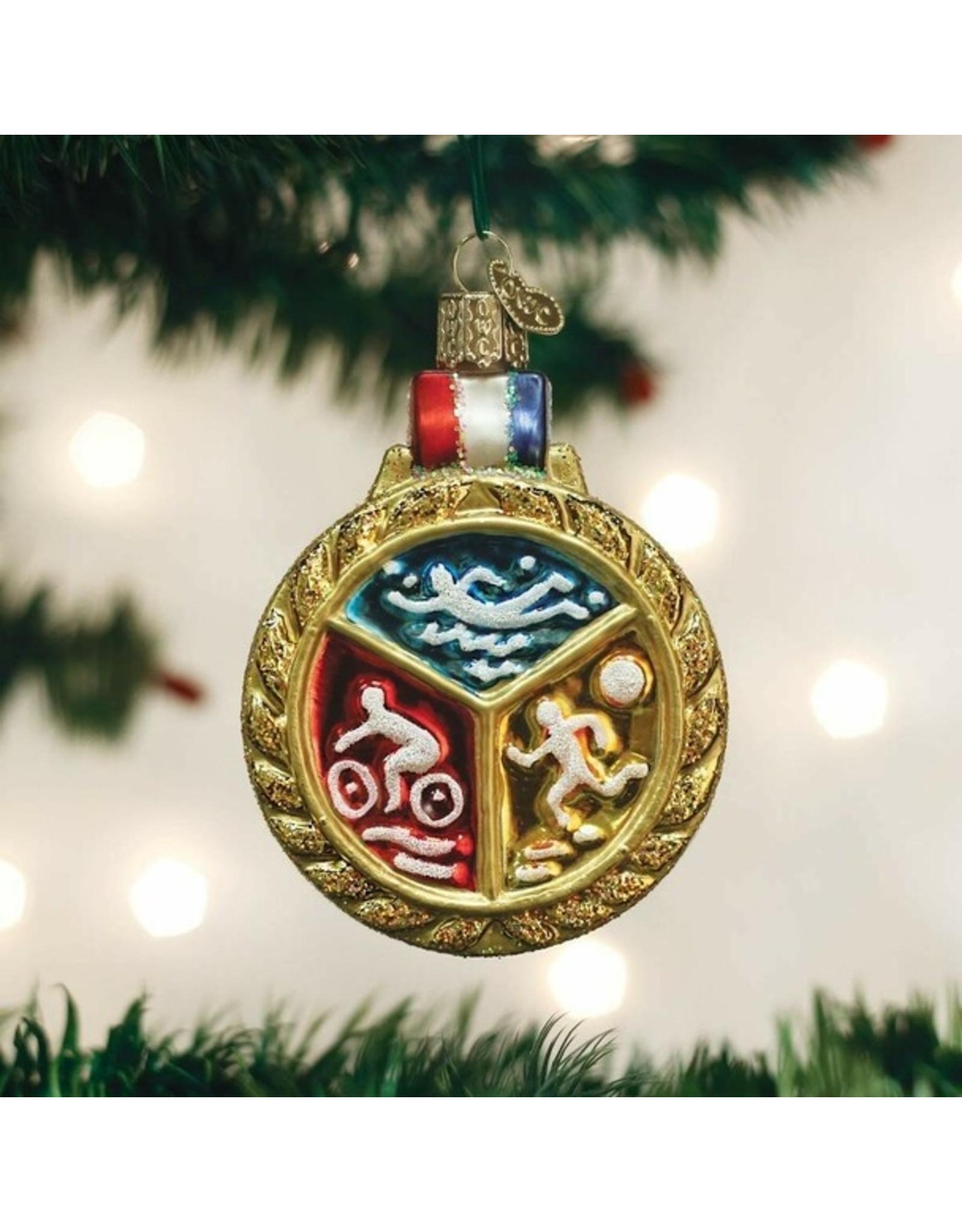 Old World Christmas Triathlon Medallion Ornament